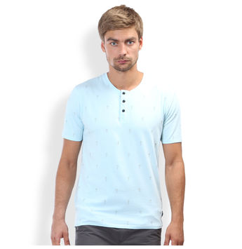 Regular Fit Casual T -Shirt, l,  sky blue