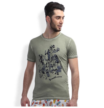 Slim Fit Casual T -Shirt, xl,  smoke green