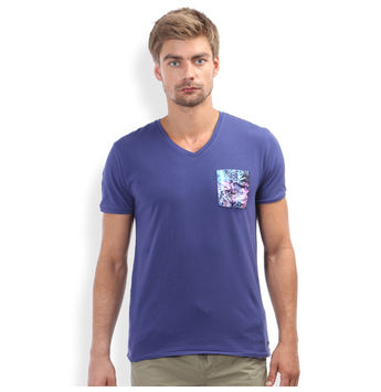 Regular Fit Casual T -Shirt, m,  ink blue