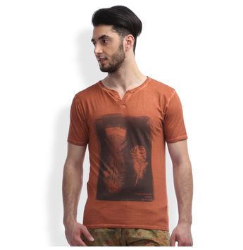Slim Fit Casual T -Shirt, m,  kobe red