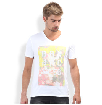 Slim Fit Casual T -Shirt, xxl,  albus white