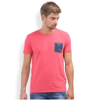 Regular Fit Casual T -Shirt, m,  caramine red